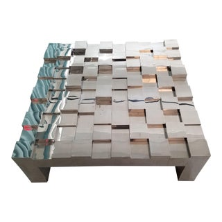 Paul Evans Cityscape Mirrored Chrome Coffee Table