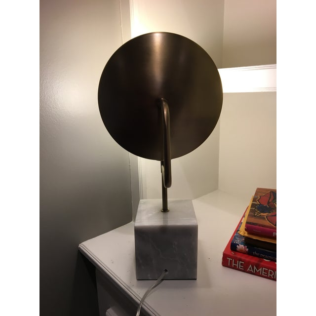 Modern Marble & Metal Directional Table Lamp - Image 8 of 8