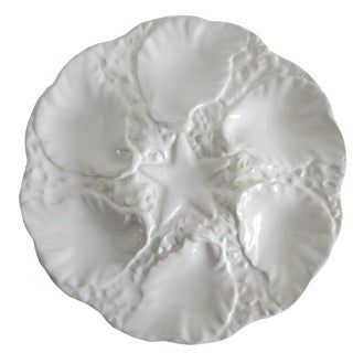 Cream Oyster Plate, Made from Porcelain