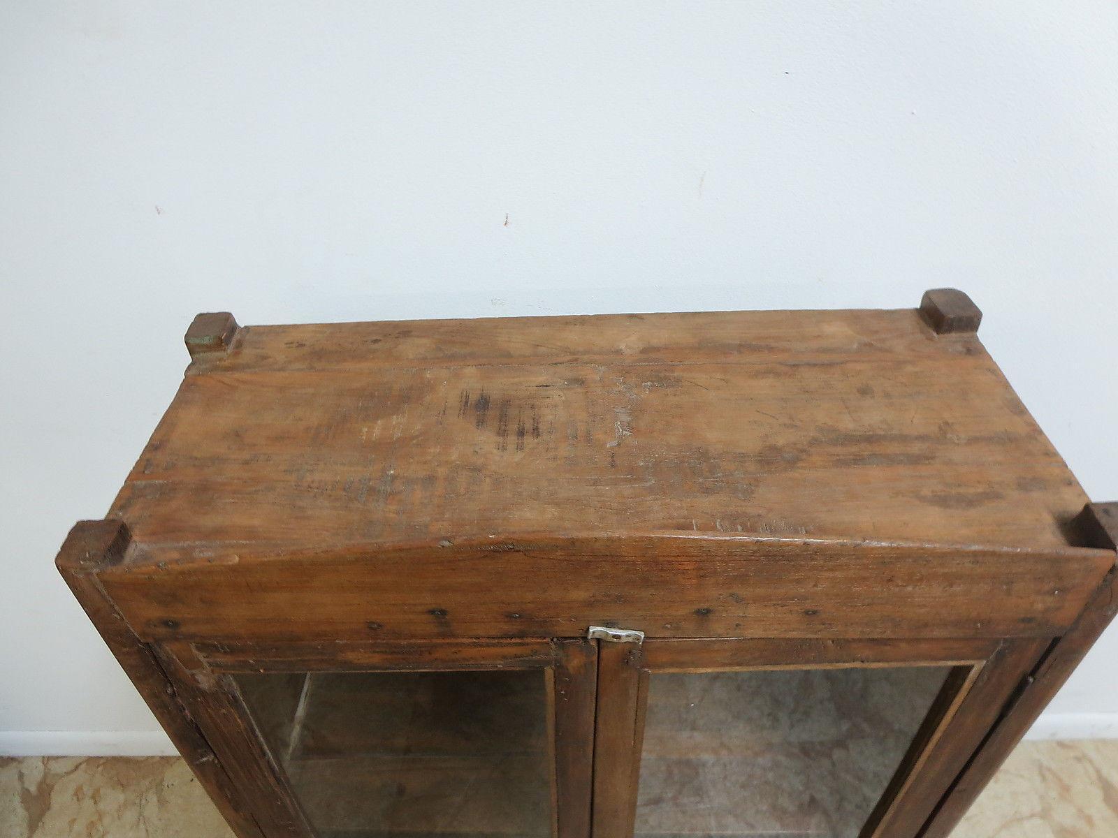 Antique Primitive China Cabinet Cupboard   Image 4 Of 6