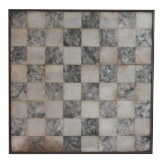 Early 20th Century Organic Alabaster Framed and Footed Game Board