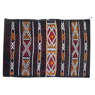 Black & Orange Moroccan Berber Pillow