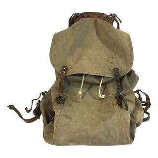 Swedish Army Canvas & Leather Rucksack