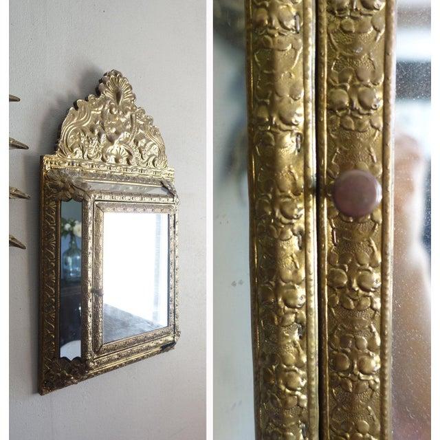 Vintage Brass Cabinet Mirror - Image 6 of 7