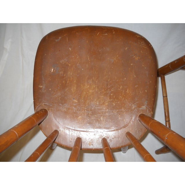 Antique Traditional Wooden Chairs - A Pair - Image 5 of 6
