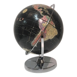 Vintage Encyclopedia Brittanica Black World Globe