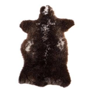 """Brown Handmade Sheepskin Rug - 3'4""""x2'0"""""""