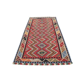 Antique Persian Flatweave Gasghgai Kilim - 5′ × 9′6″