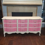 Image of Pink & White French Provincial Dresser