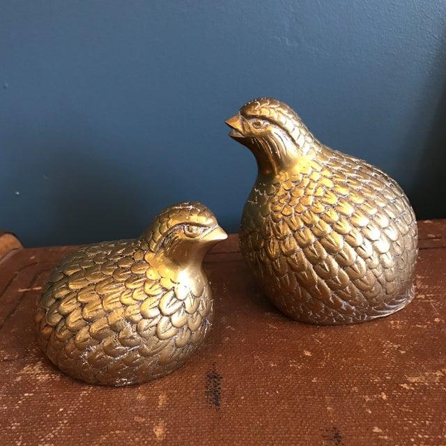 Brass Quails - A Pair - Image 2 of 6