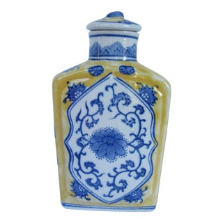 Blue & Yellow Chinoiserie Bottle