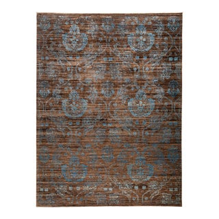 """Patterned Hand Knotted Area Rug - 9'1"""" X 11'10"""""""