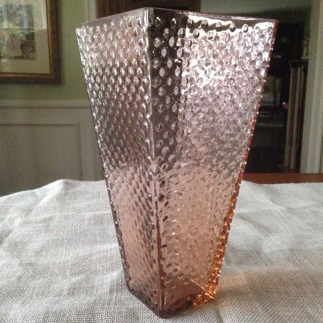 Vintage Pink Glass Hobnail Vase - Image 9 of 11
