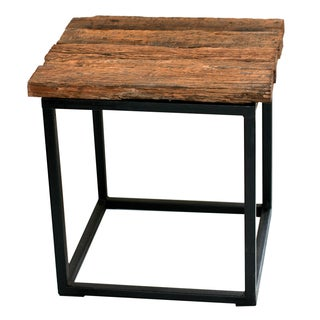Reclaimed Wood & Metal Table