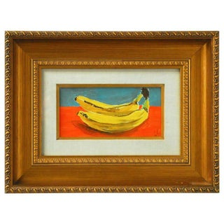 Andy Warhol Style Banana Oil Painting