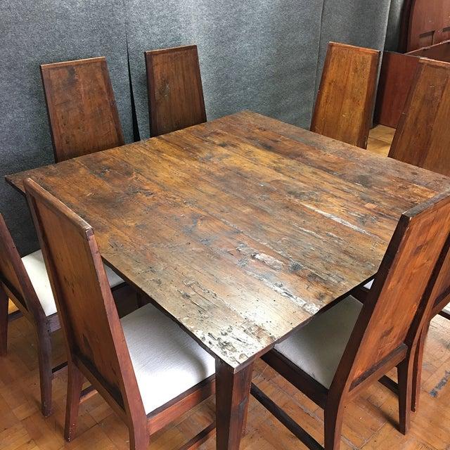 Rustic Square Mahogany Dining Set - Image 3 of 9