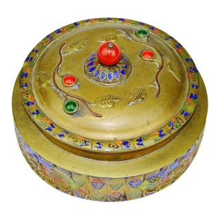 Chinese Export Cast Brass Cloisonne Enamel Chinese Vessel