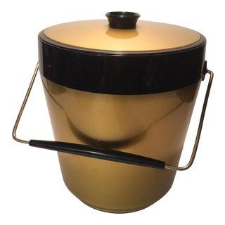 "Vintage Gold & Black ""Thermo-Serv"" Ice Bucket"