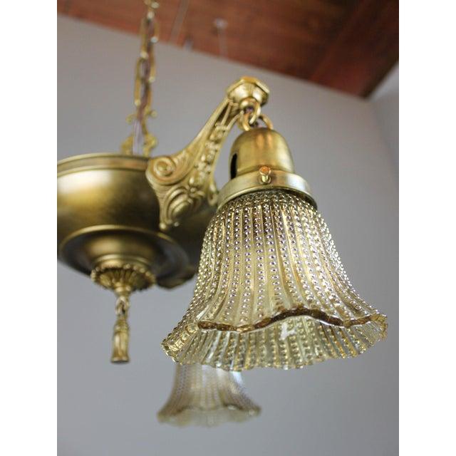Antique Pan Light Fixture (3-Light) - Image 7 of 9