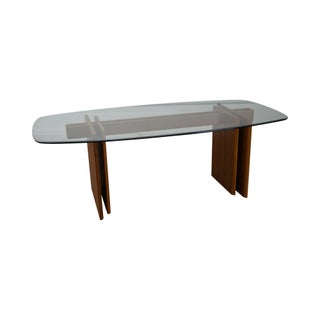 Gustav Gaarde Contemporary Danish Modern Teak & Glass Dining Table