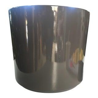 Charcoal Gray Gainey Ceramic Planter