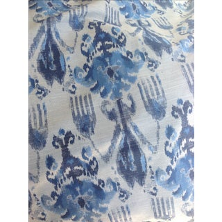 Ikat Blue Fabric by Kravet - 1.5 Yards