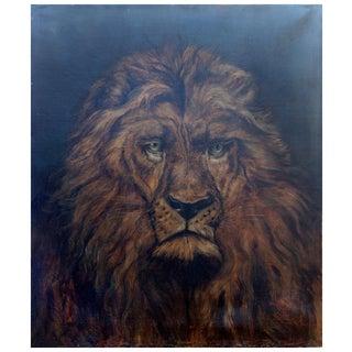 19th Century Lion Portrait