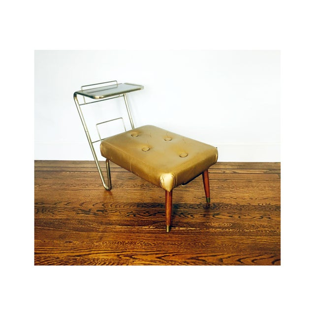 Vintage Gold Telephone Bench - Image 2 of 7
