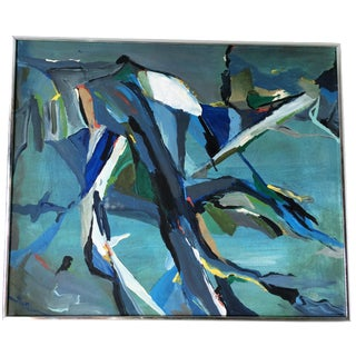 Mid-Century Inspired Abstract Painting