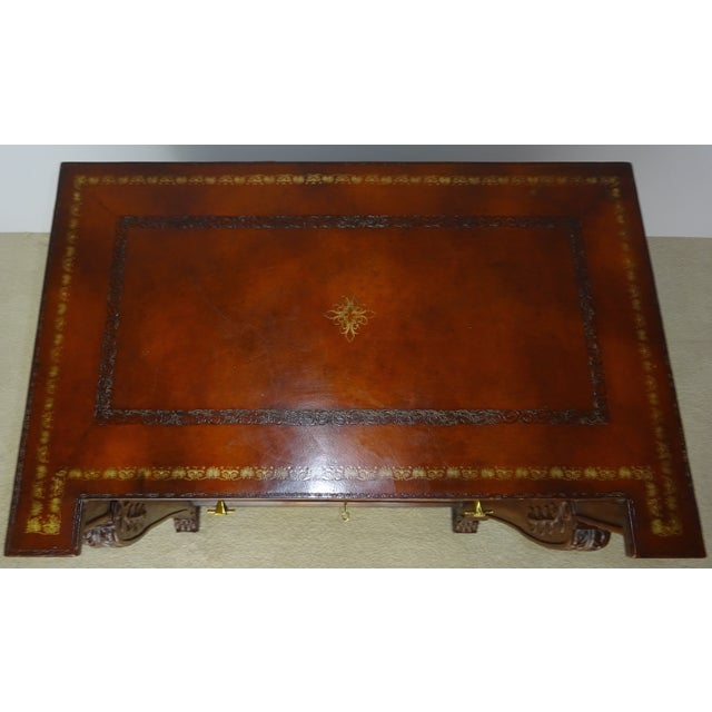 Maitland Smith Leather Faux Book Cabinet - Image 6 of 11