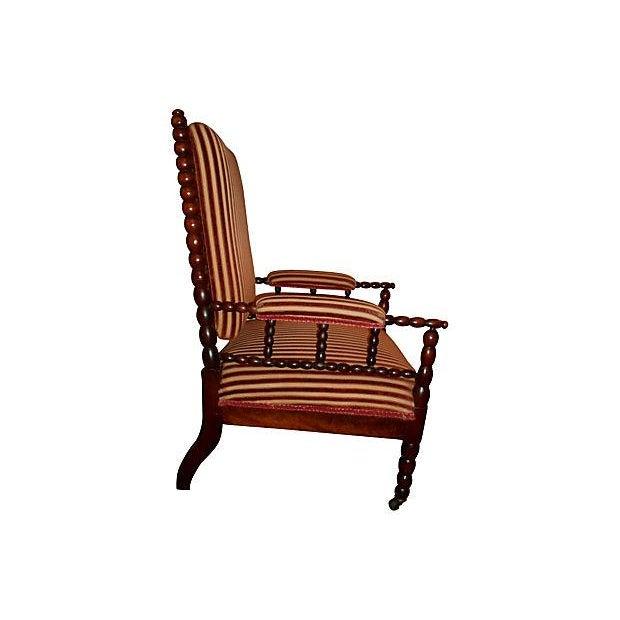 Image of Antique Upholstered Bobbin Chair