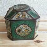 Image of Chinoiserie Flowers English Metal Box