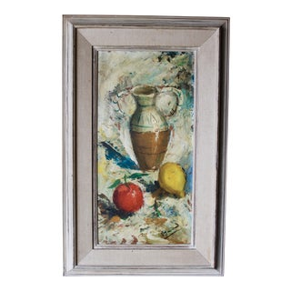 Contemporary French Post Impressionist Listed Artist Jean Rigaud Still Life Painting