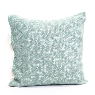 "Sage Green Diamond Handwoven Pillow - 18""x18"""