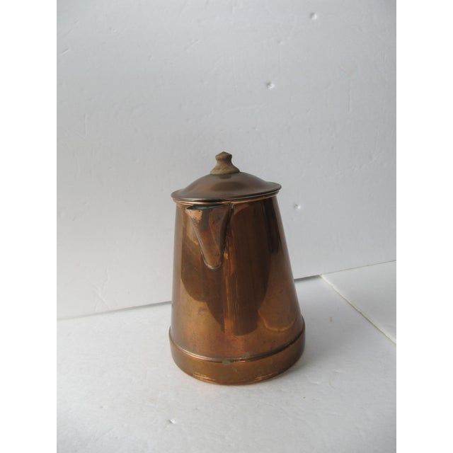 Image of Vintage Copper & Brass Coffee Pot