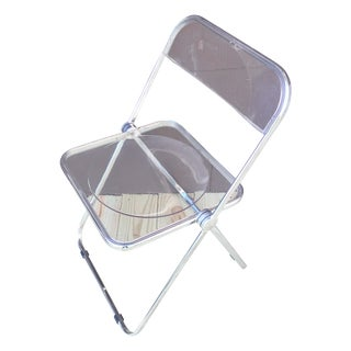 Italian Plia Acrylic Folding Chairs - Set of 4