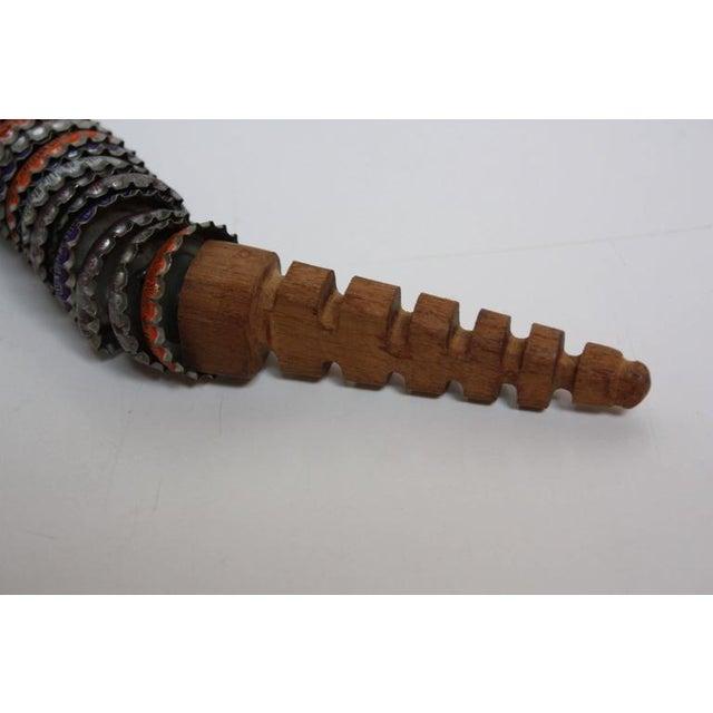 Folk Art Carved Wood and Bottlecap Snake after Felipe Archuleta - Image 10 of 10