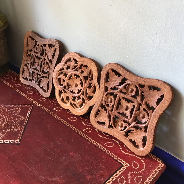Hand-Carved Trivets - Set of 3 - Image 3 of 10