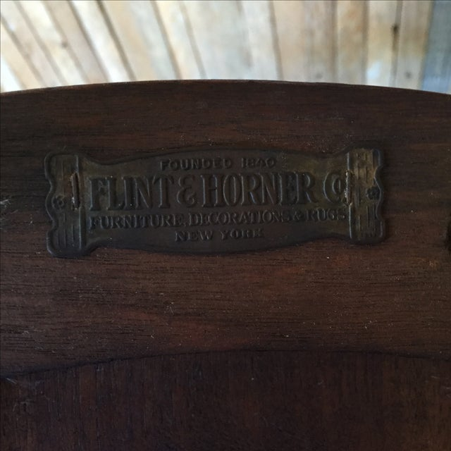Antique Walnut Bankers Lawyers Office Chair - Image 10 of 10