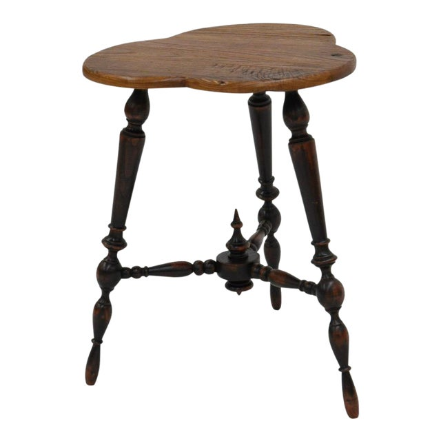 Sarreid Ltd. Turned Leg Tripod Side Table - Image 1 of 5