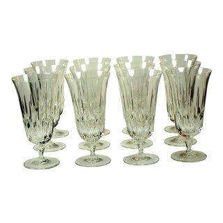 Vintage Mikasa Interlude Full Lead Crystal Wine Ice Tea Glasses - Set of 12