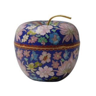 Chinese Blue Enamel Container