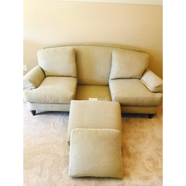 Image of Ethan Allen Cream Sofa