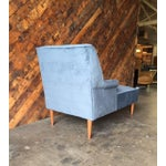 Image of Mid Century Reupholstered Tufted Extended Lounge Chair