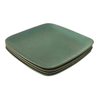 Glidden Matrix Turquoise Small Dinner Plates - Set of 4