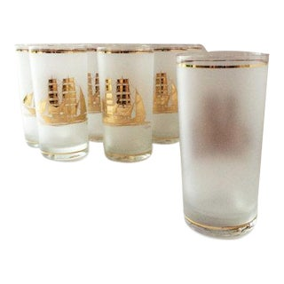 Culver Clipper Ship Glasses - Set of 6