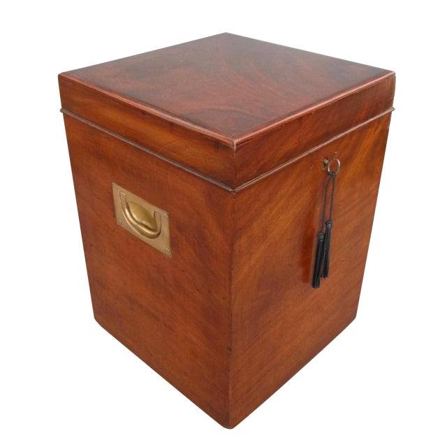 Antique English Mahogany Wine Box - Image 1 of 11