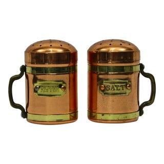 Copper & Brass Salt & Pepper Shakers - A Pair