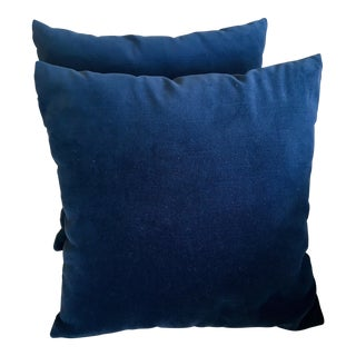 Robert Allen Navy Velvet Pillows - A Pair