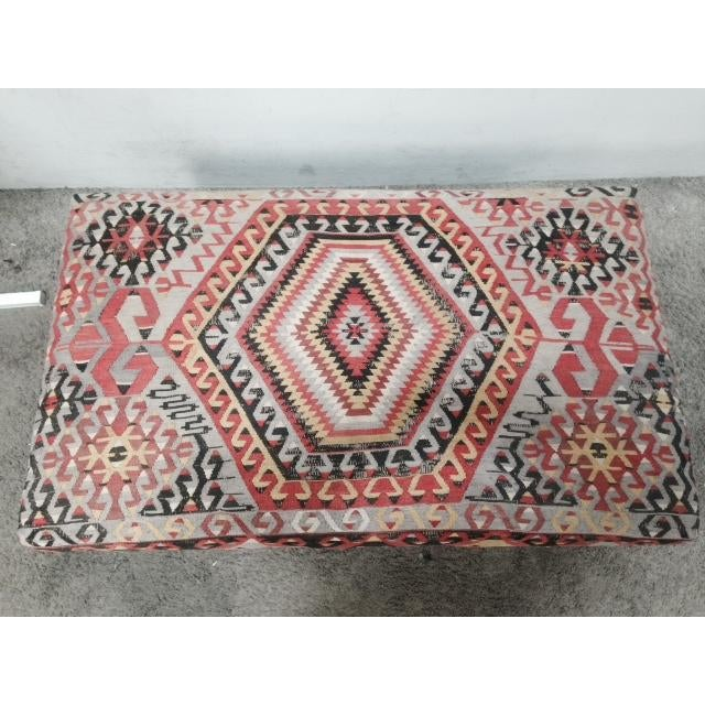George Smith Boho Chic Kilim Ottoman - Image 8 of 10